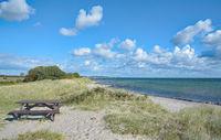 Rastplatz am Strand bei Suedstrand,Insel Fehmarn,Ostsee,Schleswig-Holstein,Deutschland