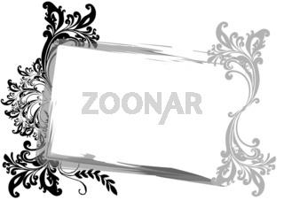 Rahmen Floral Vorlage