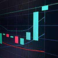 Bull candle - Stock market graph