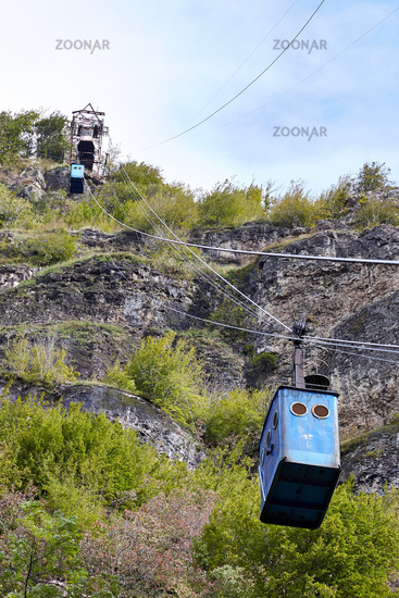 Seilbahn in Chiatura, Georgien