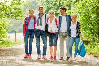 Wandergruppe auf einer Wanderung