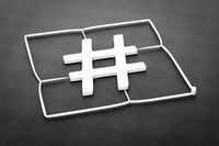 plastic injection molding hashtag sign