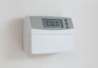 Vintage digital thermostat - Covert in dust - Cold