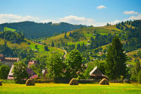 Carpathians mountains village landscape Ukraine
