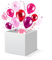 Box And Balloons