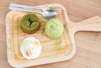 green tea lava cake