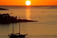 Sonnenuntergang in Cavtat 001. Kroatien