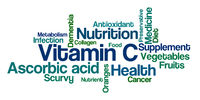 Word Cloud on a white background - Vitamin C