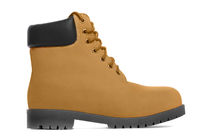 Brown boot. Side view