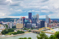 Pittsburgh cityscape with the Ohio river
