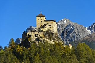 Schloss Tarasp, Tarasp, Gemeinde Scuol, Unterengadin, Graubünden, Schweiz