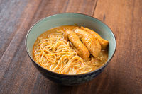 Spicy Curry Laksa Noodles Asian food