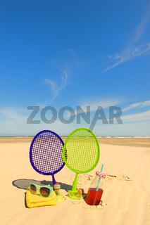 Beach tennis game