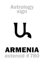 Astrology: asteroid ARMENIA