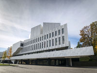 Finlandia Hall landmark building in helsinki city finland