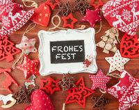Rustikaler Hintergrund mit Weihnachts Dekoration
