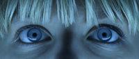 Blaue Augen einer jungen Frau, blue eyes of a young woman