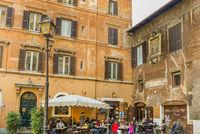 restaurant in der historischen altadt von rom