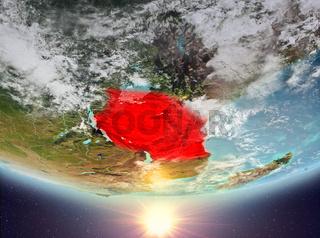 Tanzania with sun