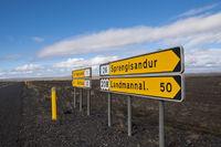 Island, Wegweiser zur Sprengisandur
