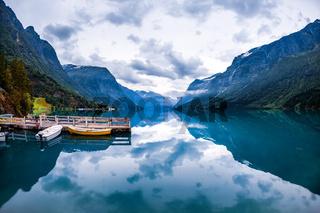 lovatnet lake Beautiful Nature Norway.