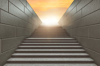 Steps on staircase leading to new challenges - 3d rendering