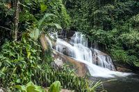 Beautiful White Stone's Waterfall in Paraty, Rio de Janeiro state, Brazil