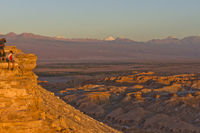 Chile, Atacama Desert sunset