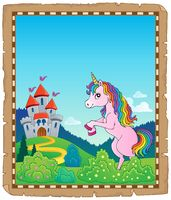 Parchment with standing unicorn theme 2