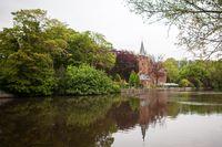 Medieval building on Love lake