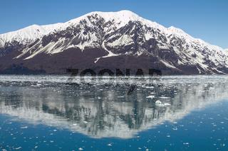 Reflection of Mountain Close to Hubbard Glacier in Alaska