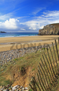 Strand in der Bretagne, Plage de Pen Hat, Frankreich Beach in Brittany, France (Plage de Pen Hat)