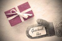 Pink Gift, Glove, Geschenk Idee Means Gift Idea, Instagram Filter