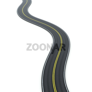 a winding road icon graphic