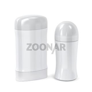 Roll-on and stick antiperspirant deodorants