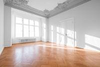 Empty apartment room - luxury real estate interior -