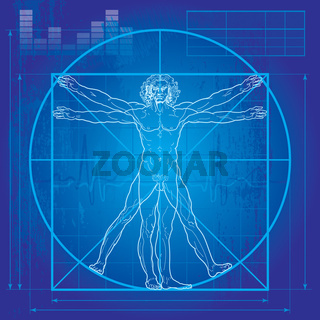 The Vitruvian man (Blueprint version)