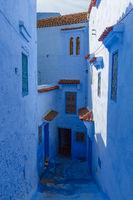 Blue street inside Medina of Chefchaouen