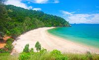 beach in National Park of Koh Lanta, Krabi, Thailand