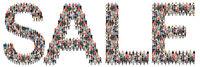 Sale Rabatt reduziert Ausverkauf Angebot Leute Menschen People Gruppe Menschengruppe