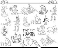 find two the same characters color book