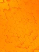 orange hexagon background