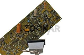 Leiterplatte mit Bauelementen No. 2