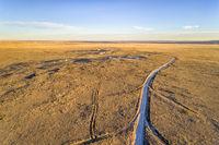 dirt ranch road in northern Colorado