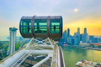 Singapore  Flyer and Downtown Core