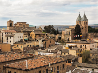 Luftaufnahme der Stadt Toledo, Spanien