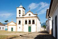 Rio de Janeiro, February, 15, 2016 - Church Igreja de Santa Rita de Cassia in Paraty, state Rio de Janeiro, Brazil