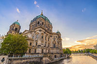 Berlin sunset city skyline at Berlin Cathedral (Berliner Dom), Berlin, Germany