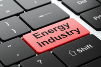Industry concept: Energy Industry on computer keyboard background