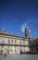 old town Obradoiro Square near santiago de compostela cathedral spain